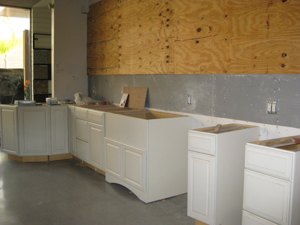 New Demonstration Kitchen Currently Under Construction
